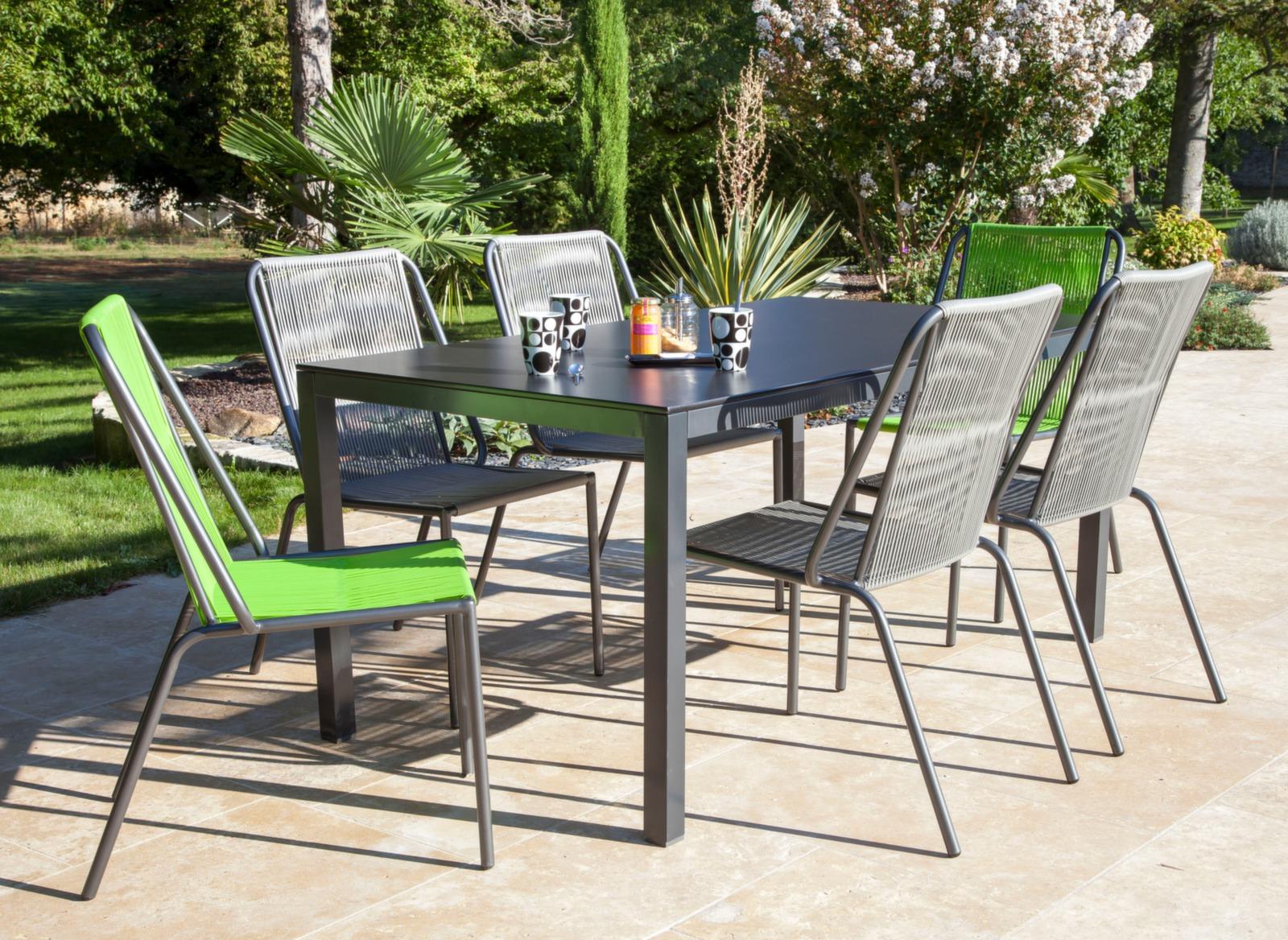 chaise spaghetti lime chaises et fauteuils de jardin salon de jardin repas proloisirs. Black Bedroom Furniture Sets. Home Design Ideas