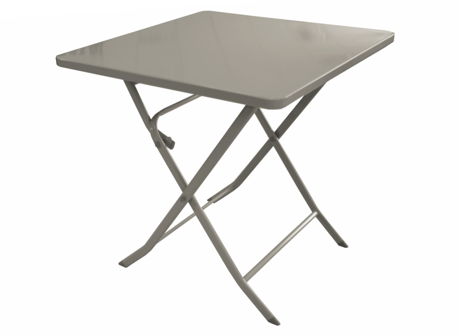 Table de jardin pliante en acier nonza 70 x 70 cm proloisirs for Pietement de table pliante