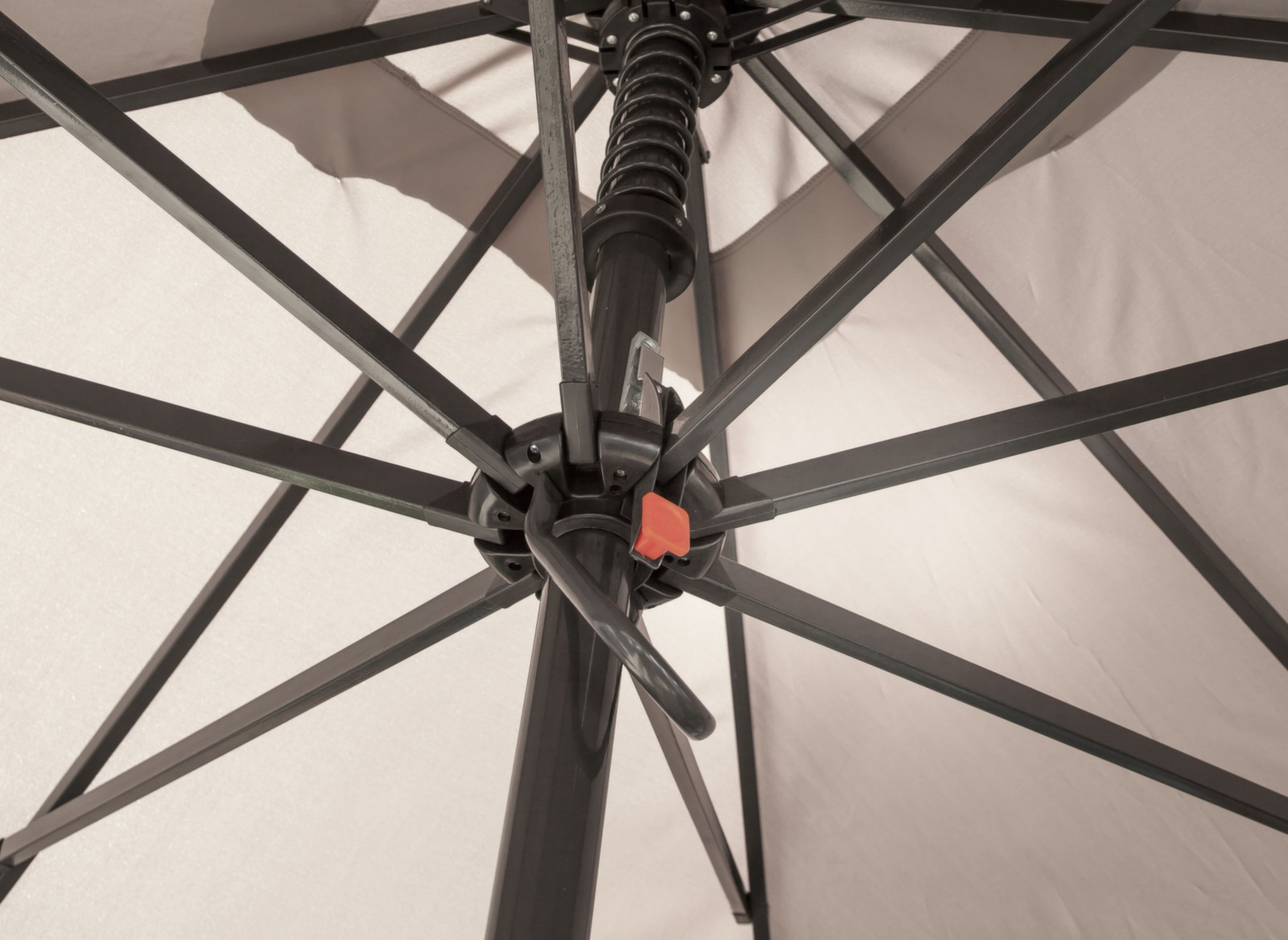 parasol droit solde alu 3x3m ouverture assist e soldes. Black Bedroom Furniture Sets. Home Design Ideas