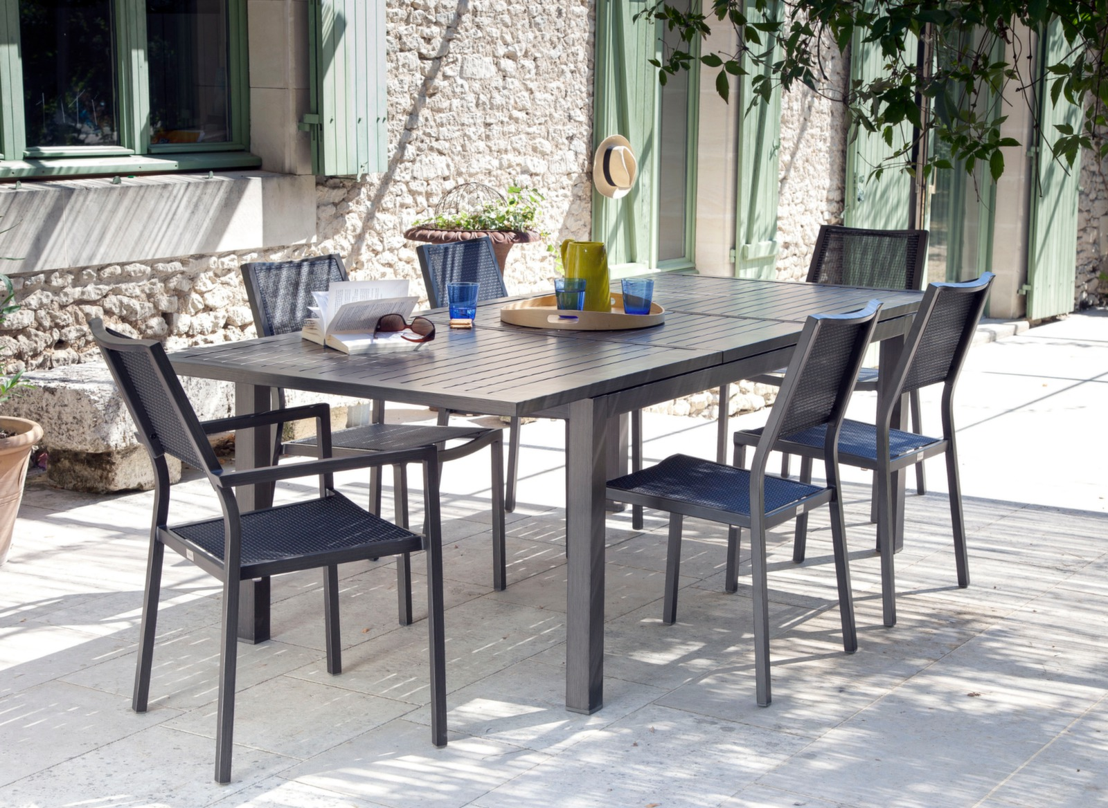 Table extensible milano 180 240 x 100 cm tables de jardin meubles de jard - Cote table vente en ligne ...