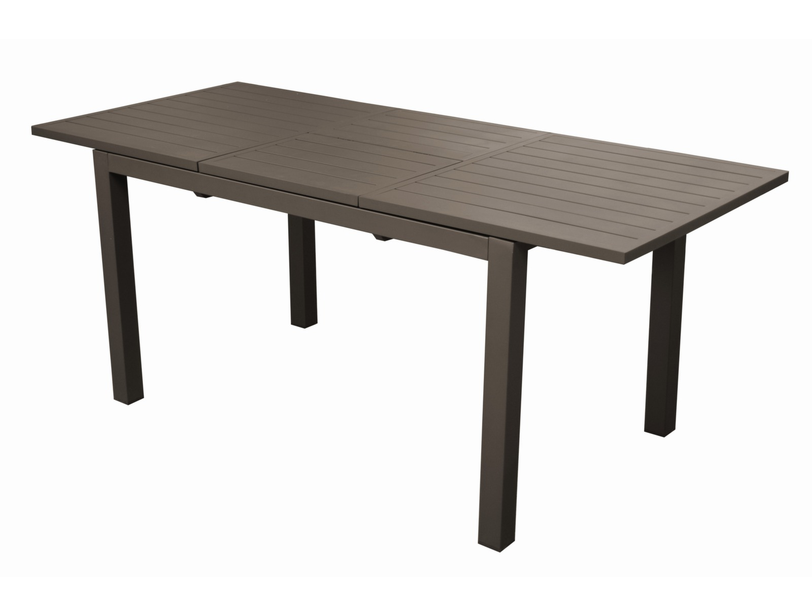 Emejing table de jardin avec rallonge en pvc gallery for Table noir rallonge