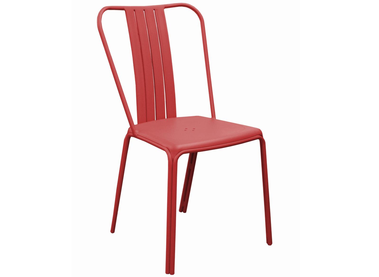 Chaise de jardin rouge mat azuro selon denali design proloisirs - Mobilier jardin rouge besancon ...
