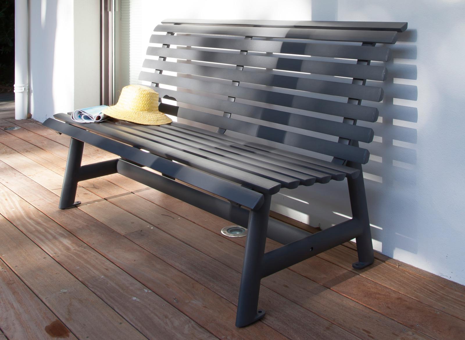 Banc de jardin en aluminium Square 3 places – Proloisirs