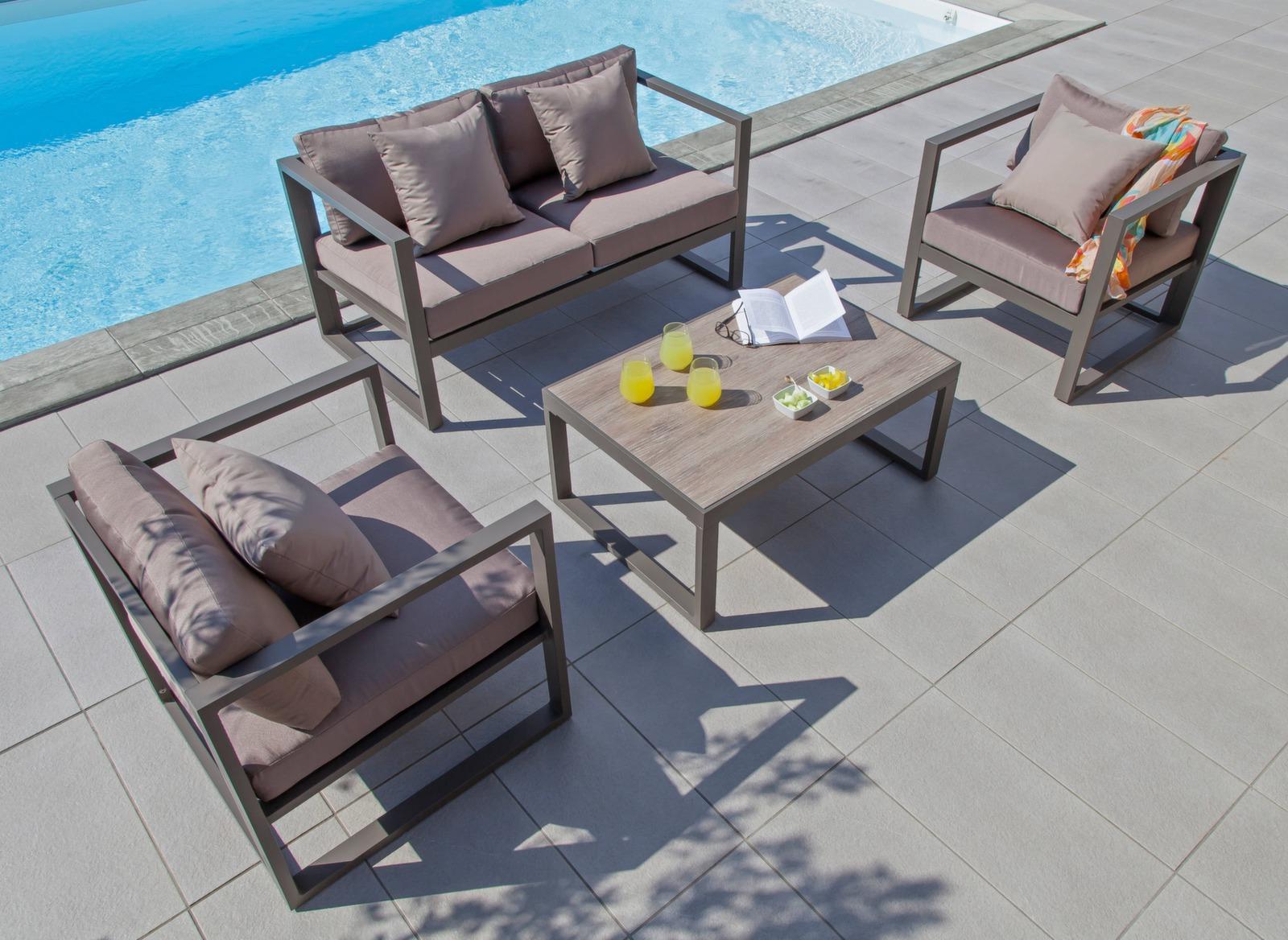 salon ext rieur contemporain manhattan mobilier jardin proloisirs. Black Bedroom Furniture Sets. Home Design Ideas
