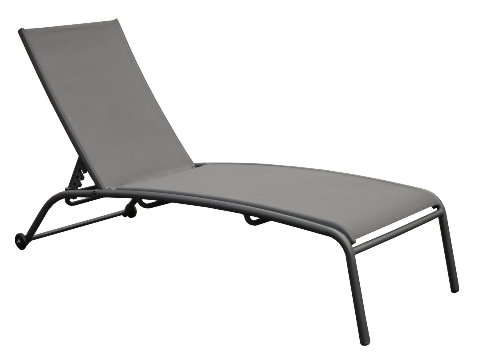 bain de soleil en acier et toile textil ne globe proloisirs. Black Bedroom Furniture Sets. Home Design Ideas