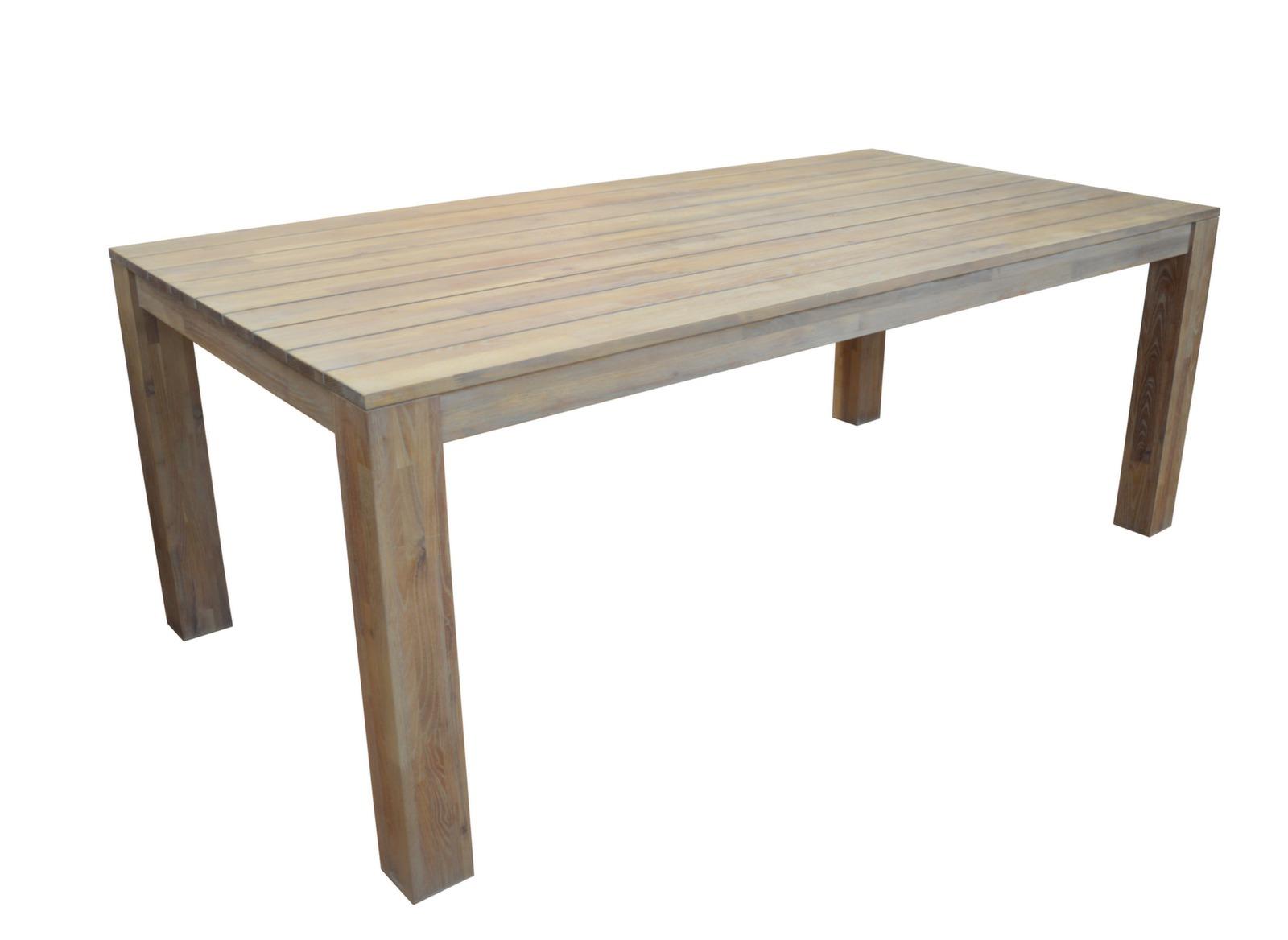 Table de jardin en bois rectangle Kéa - Meubles jardin ...