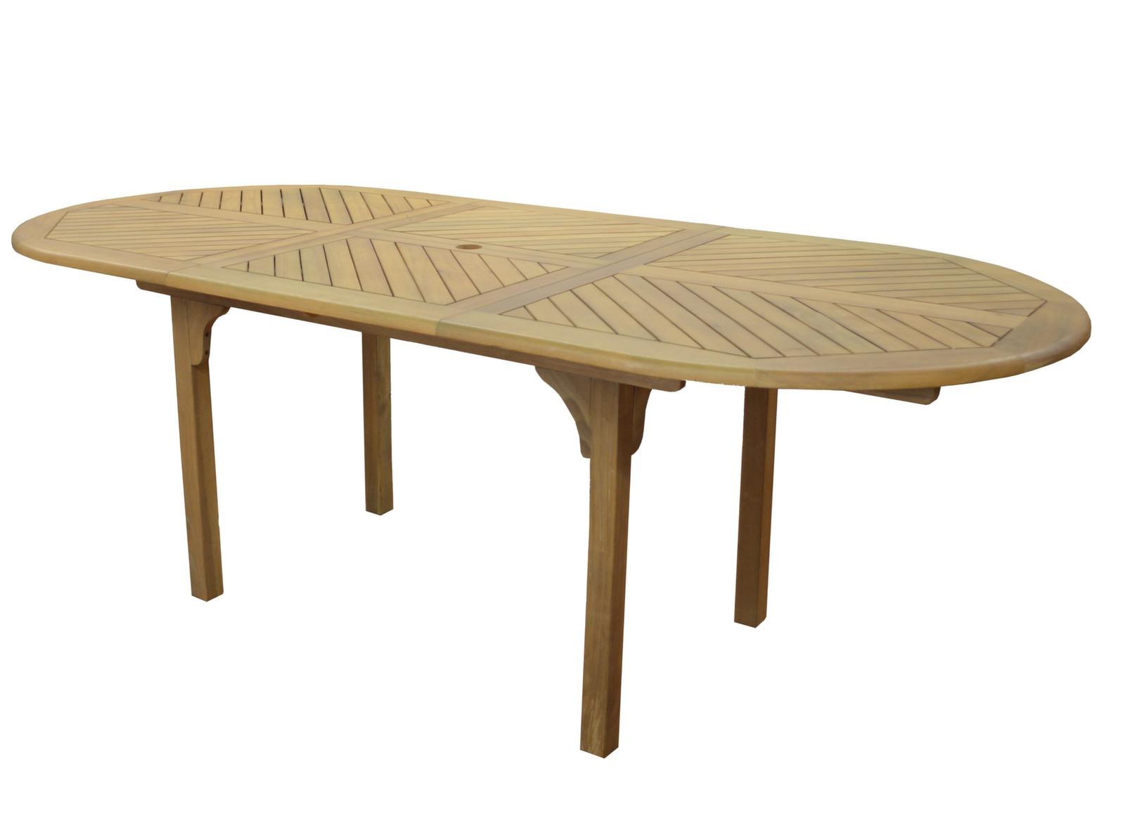 Table de jardin en bois 6/8 pers Durban - Gamme Alizé - Proloisirs