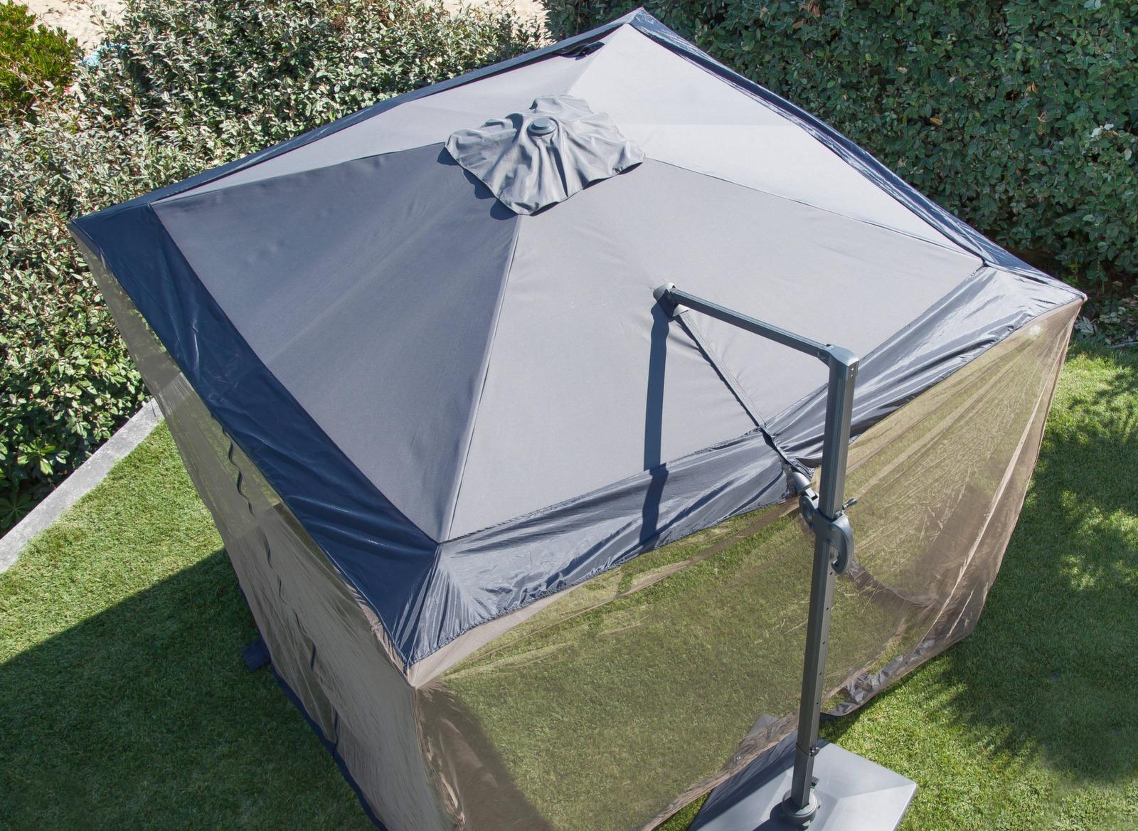 Moustiquaire Parasol D Port 3x3m Accessoires Parasol