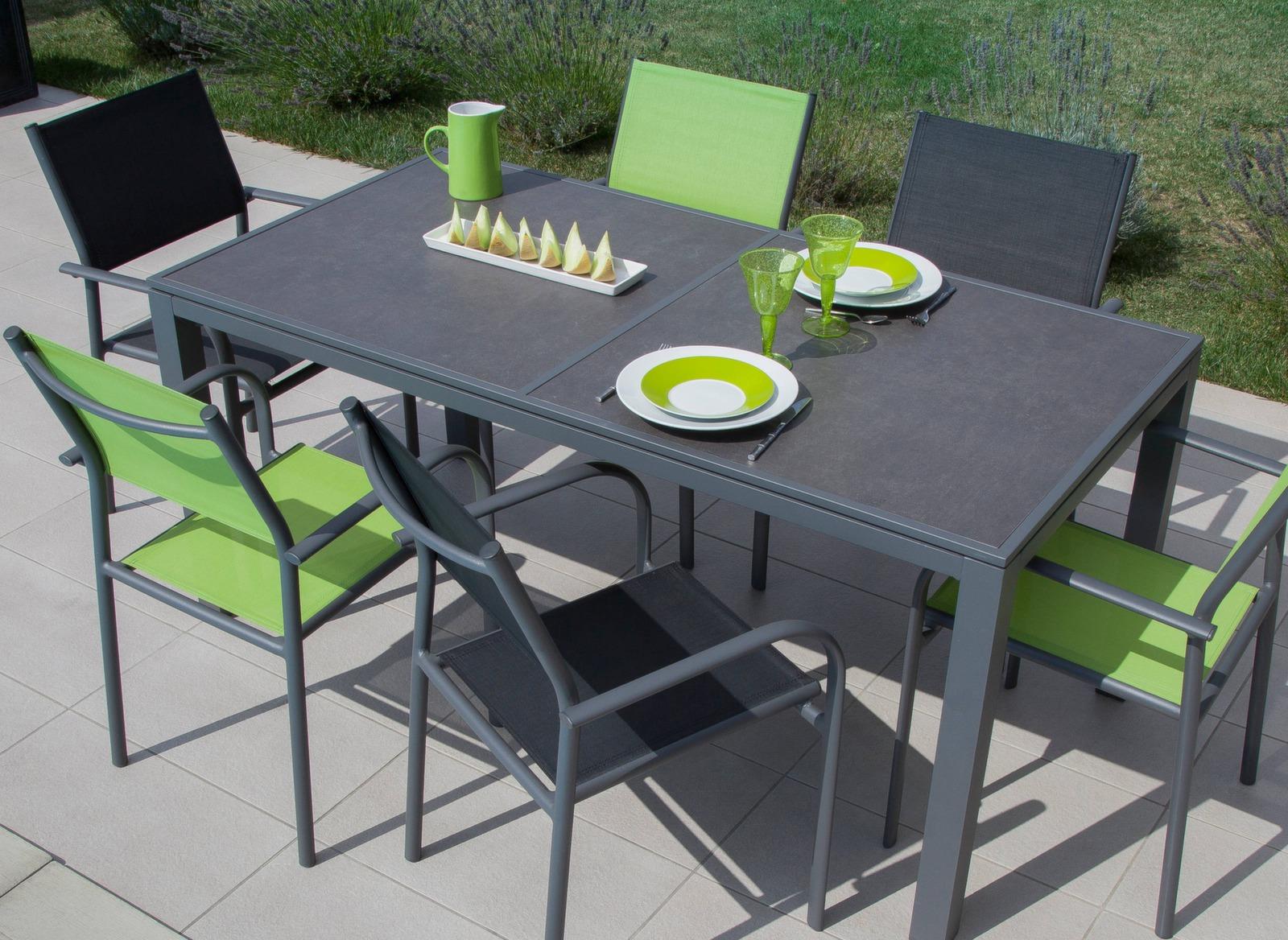 table de salon de jardin romane 166cm proloisirs. Black Bedroom Furniture Sets. Home Design Ideas
