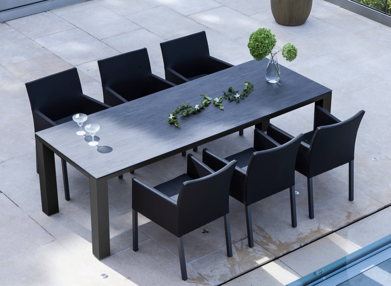 table de jardin torino 180cm plateau trespa gamme oc o proloisirs. Black Bedroom Furniture Sets. Home Design Ideas