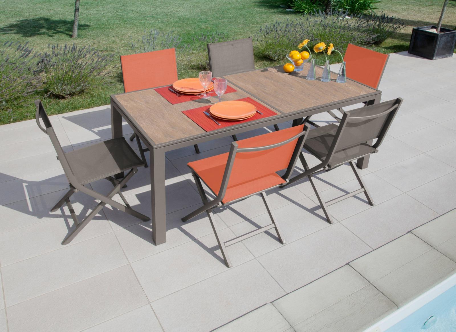 table d 39 ext rieur romane 188cm gamme aliz proloisirs. Black Bedroom Furniture Sets. Home Design Ideas