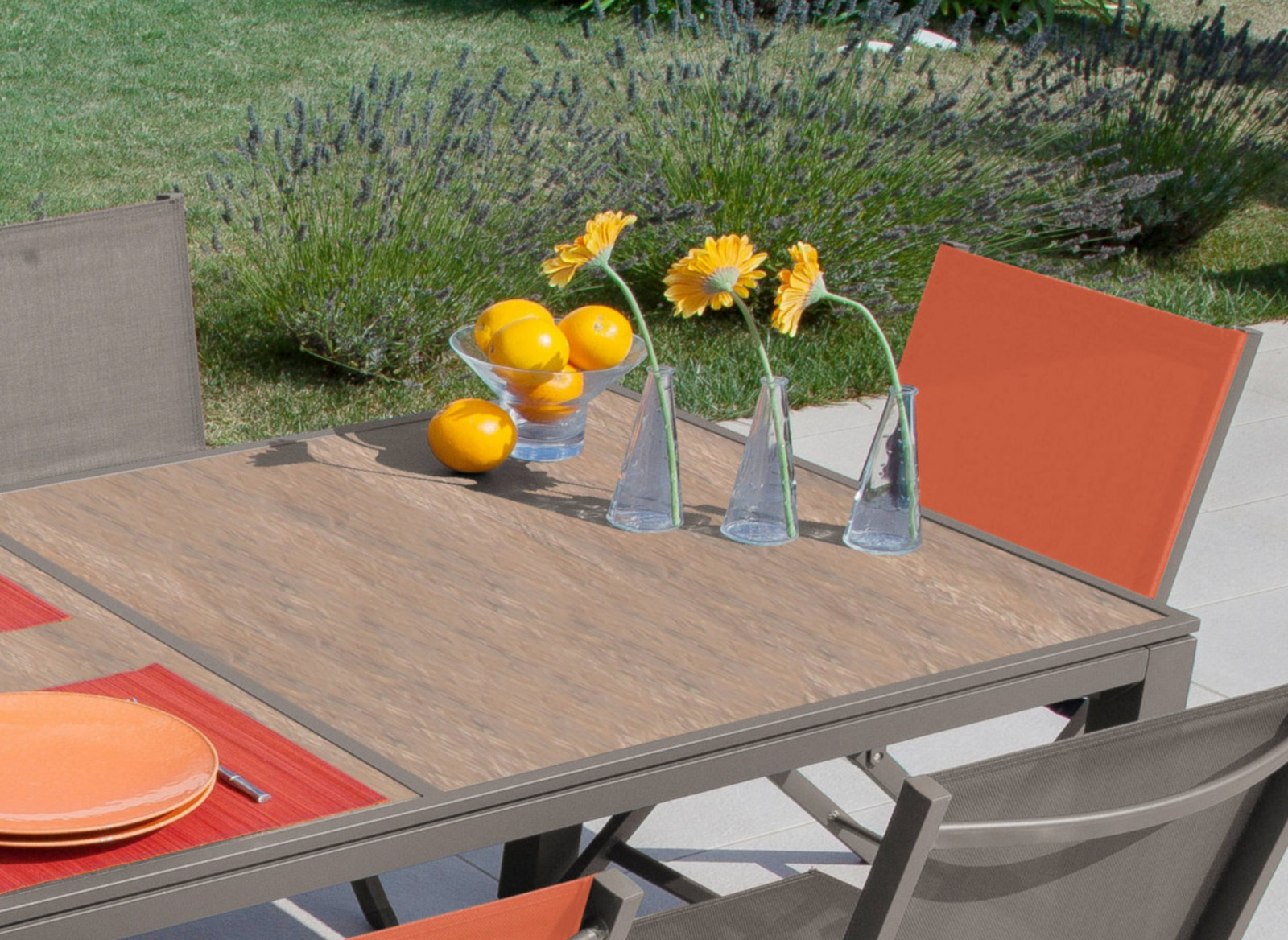Jardin Plateau Romane Mobilier De Céramique Proloisirs Table 9ED2WIH