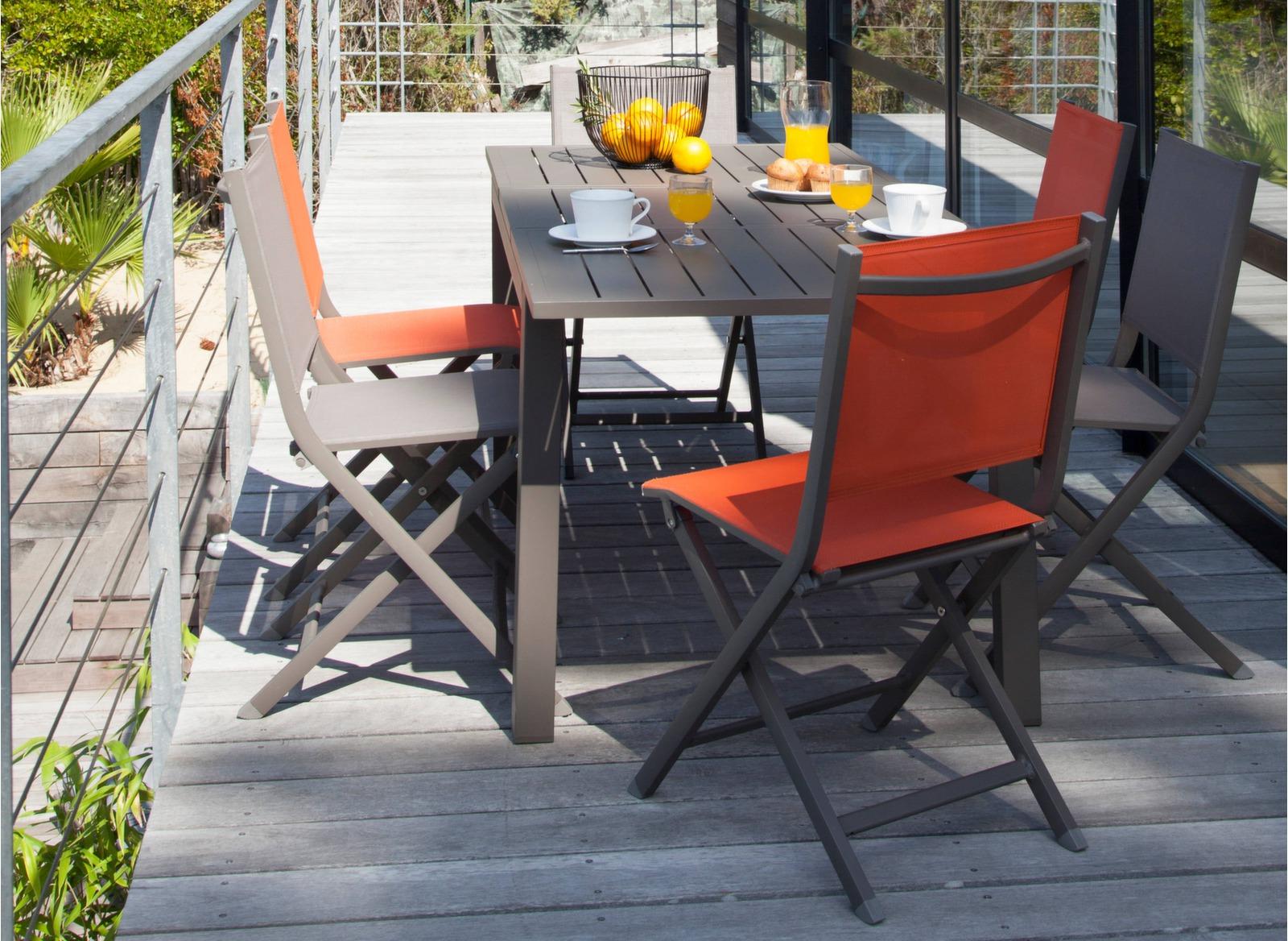 Mobilier Table Trieste Proloisirs Jardin 130180 Théma Chaises Cm6 rxQhCsdt