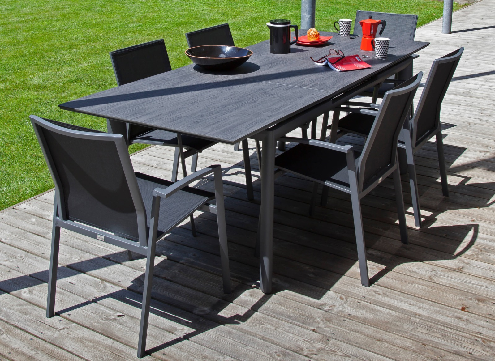 table de jardin rectangle miami 220cm en exclusivit proloisirs. Black Bedroom Furniture Sets. Home Design Ideas