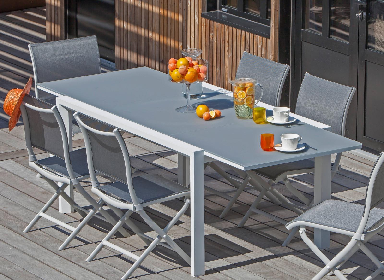 Table Juan 160/240cm - Table repas mobilier de jardin ...