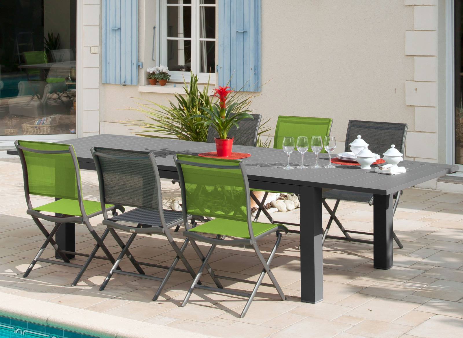 Table Aurore 214 311cm - Table avec extension - Mobilier de jardin 97d851742c56