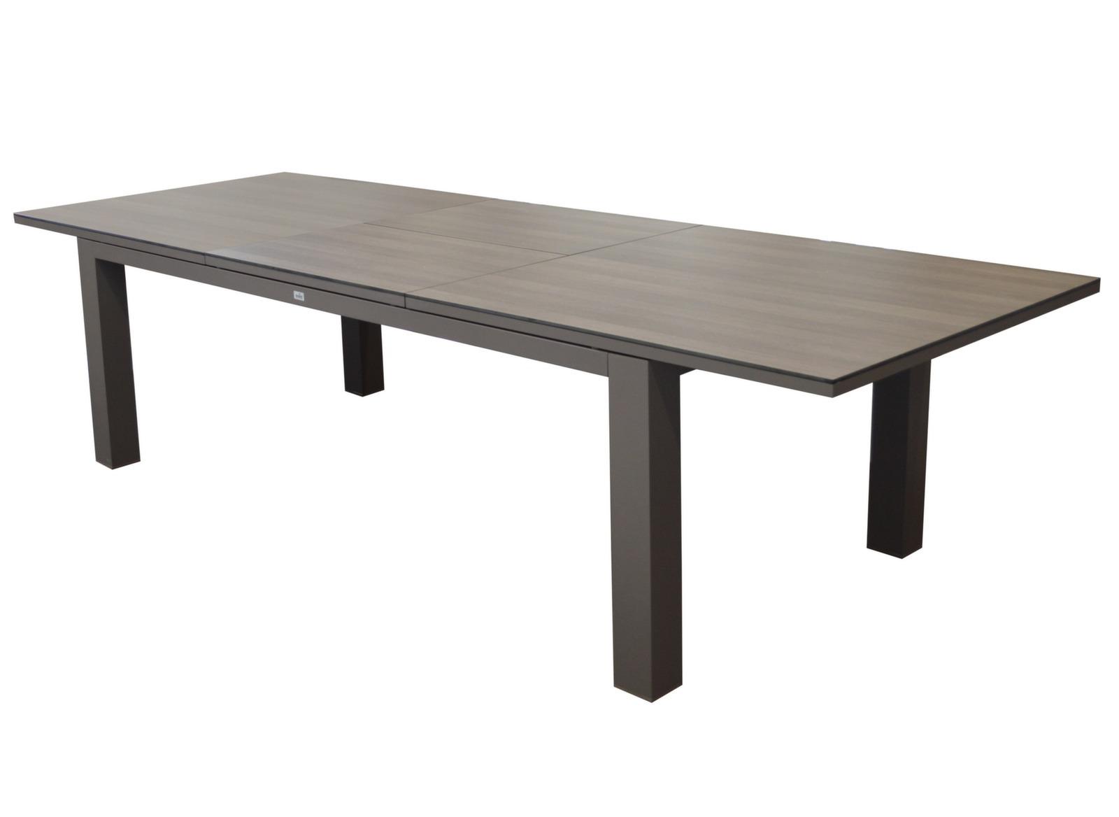 Table Flo 220/300 cm, plateau Trespa®