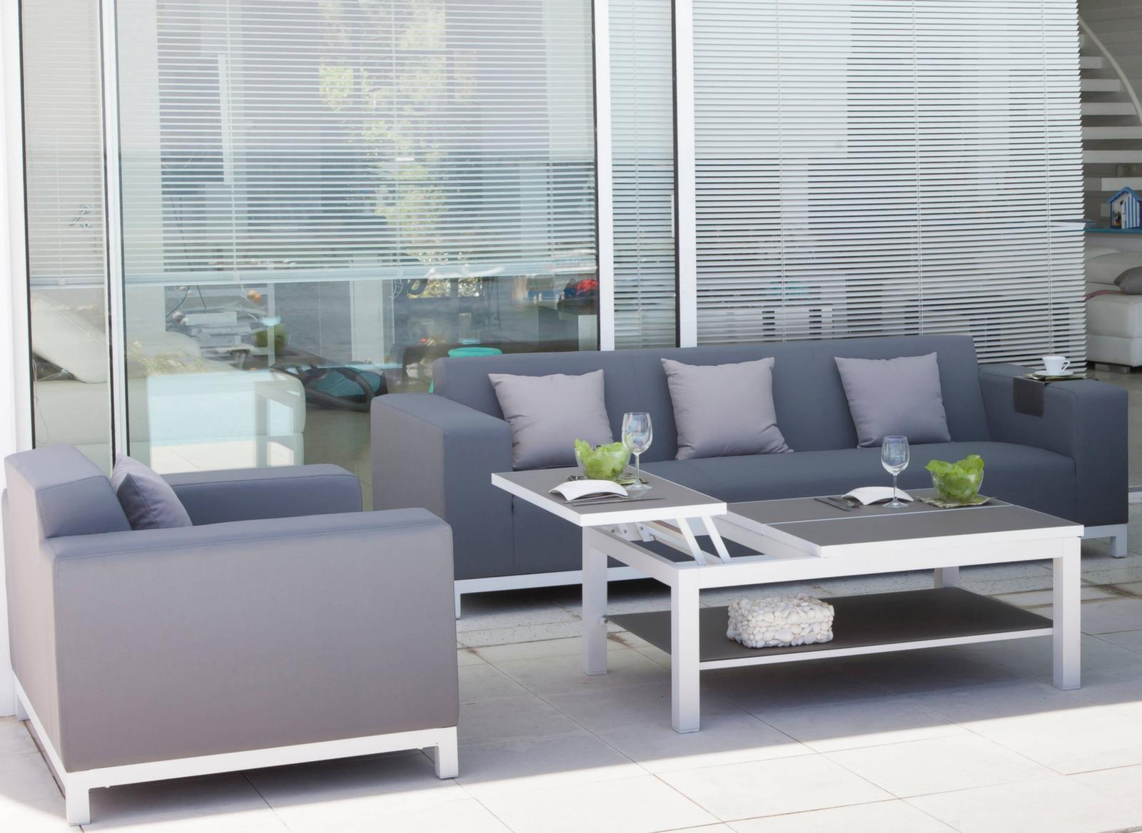 table basse 108 cm belle ile plateau hpl tables basses proloisirs. Black Bedroom Furniture Sets. Home Design Ideas