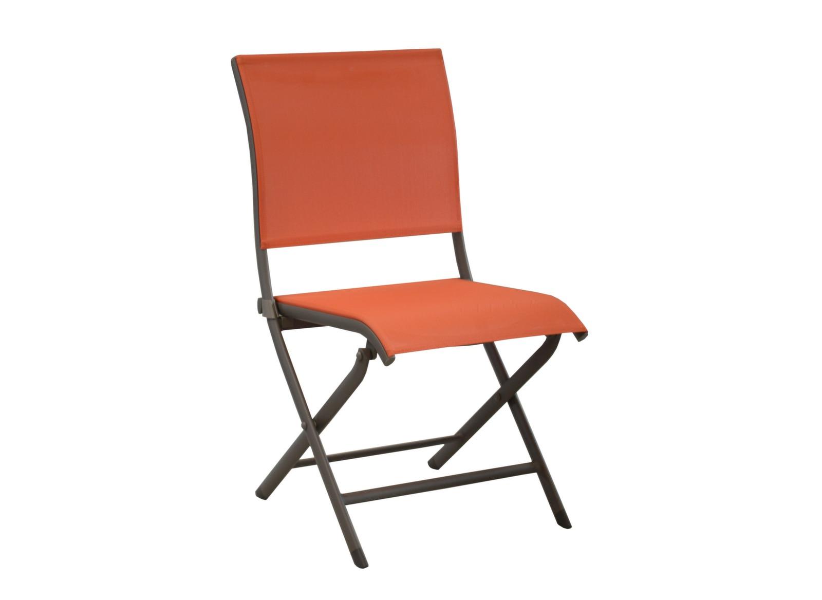Chaise pliante de jardin alu et textil ne l gance oc o - Chaise pliante toile ...