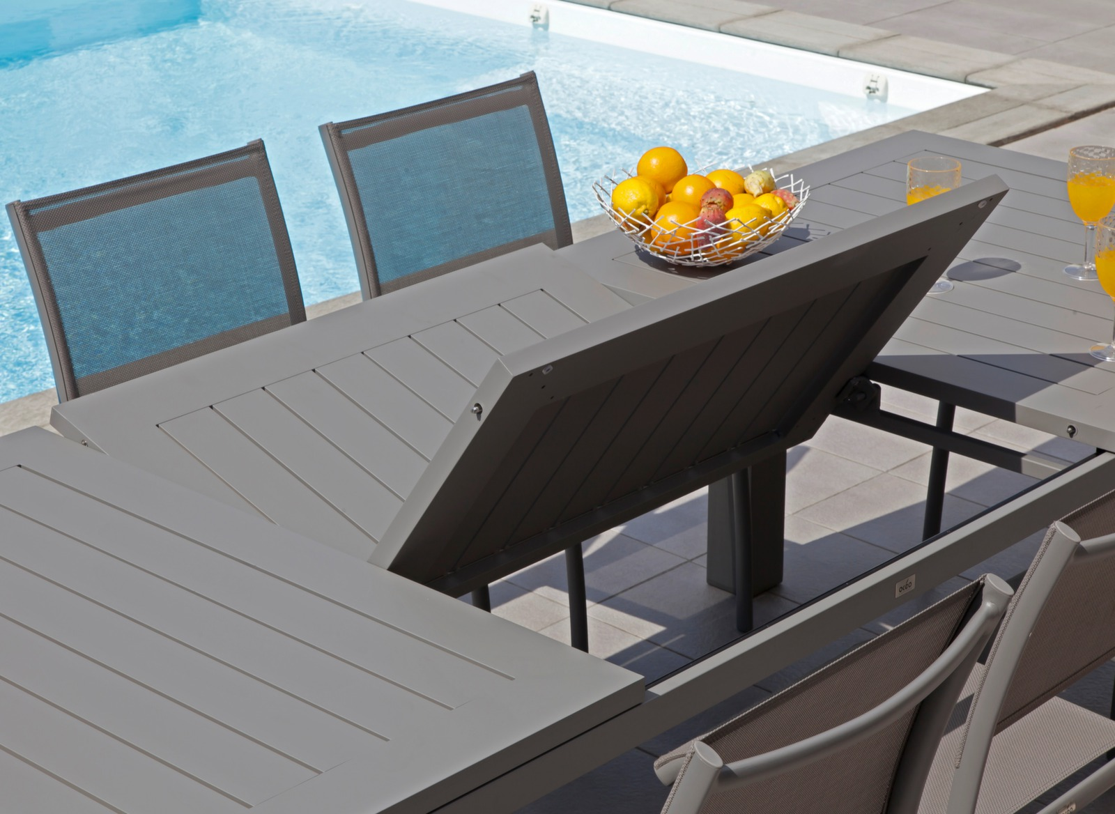 Table de jardin aluminium 12 places Aurore - Gamme Océo - Proloisirs