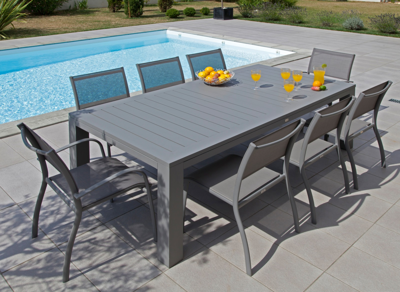 Table Aurore 214/311cm - Table avec extension - Mobilier de jardin