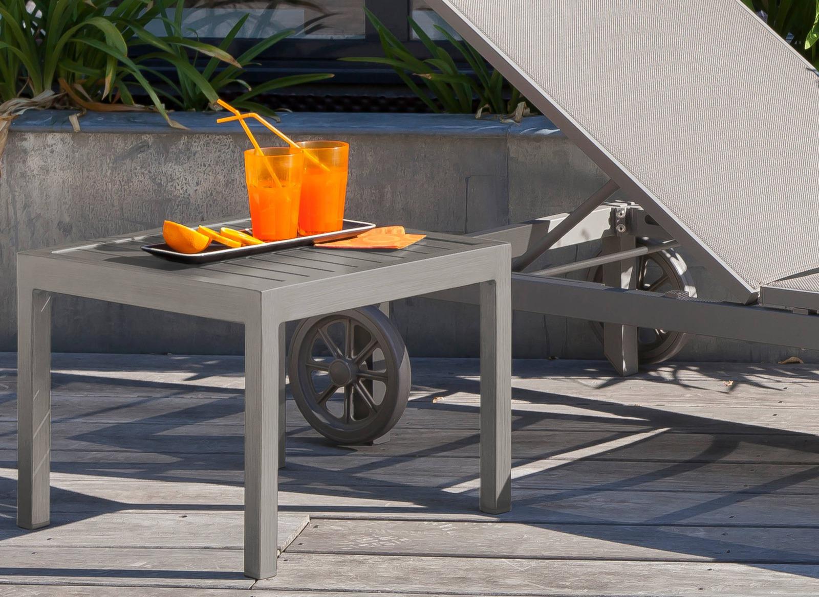 Table basse de jardin carrée 40 cm Lou - Tables basses - Proloisirs