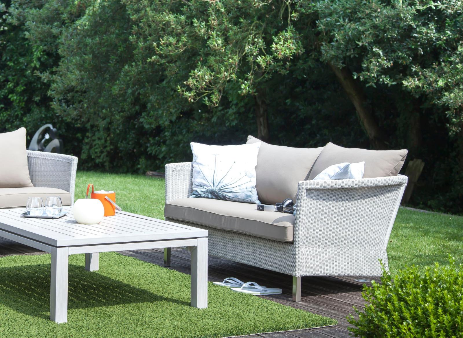 canap de jardin 2 places coussins thyme gamme oc o proloisirs. Black Bedroom Furniture Sets. Home Design Ideas