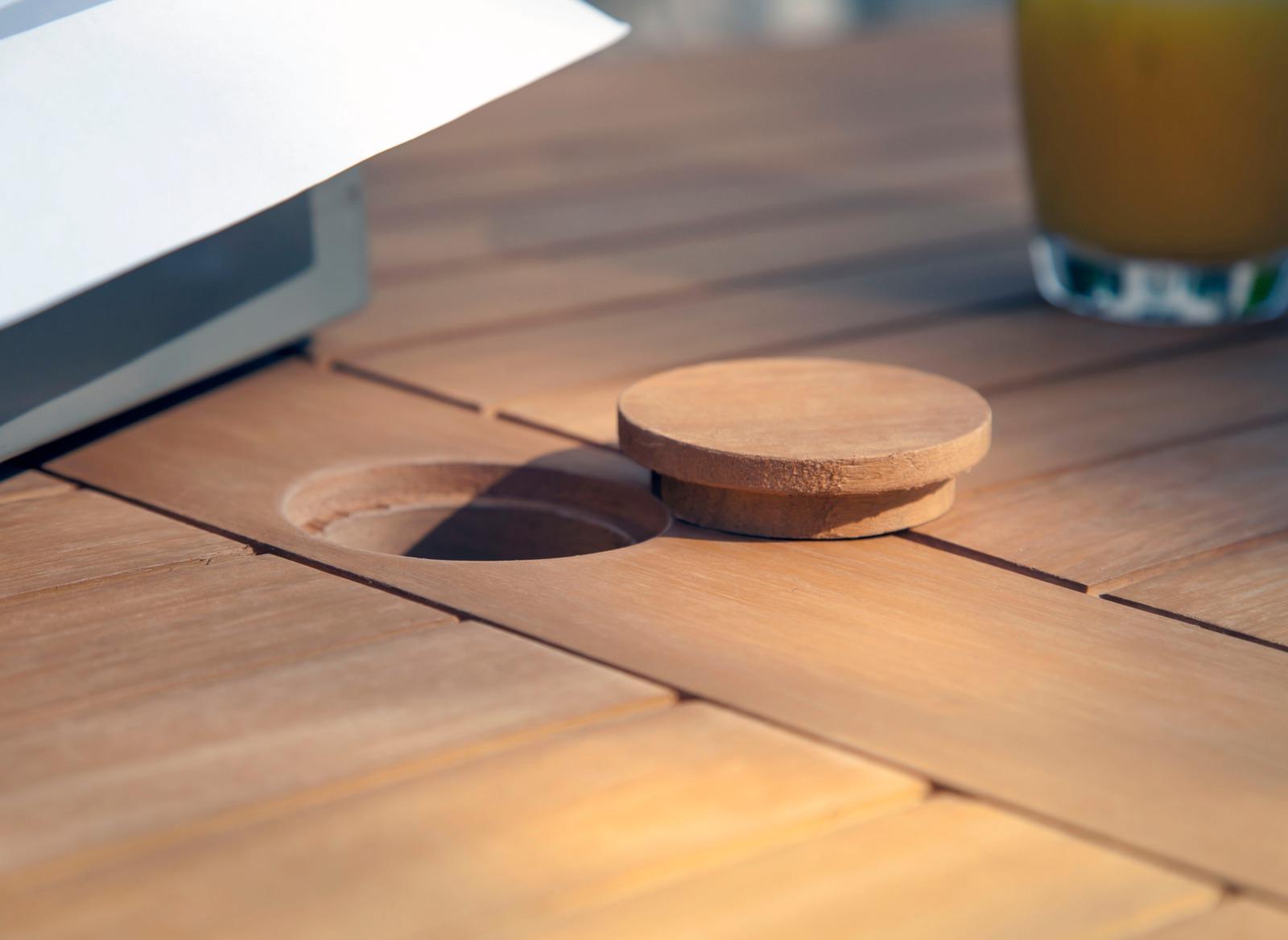 Table de jardin ronde en bois Sophie 80cm - Gamme Alizé ...