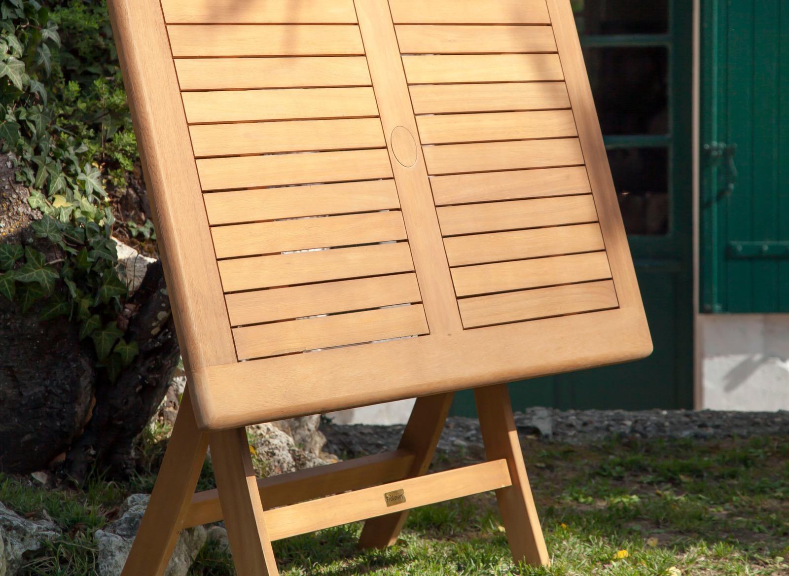 Table de jardin en eucalyptus Sophie 110cm - Gamme Alizé - Proloisirs