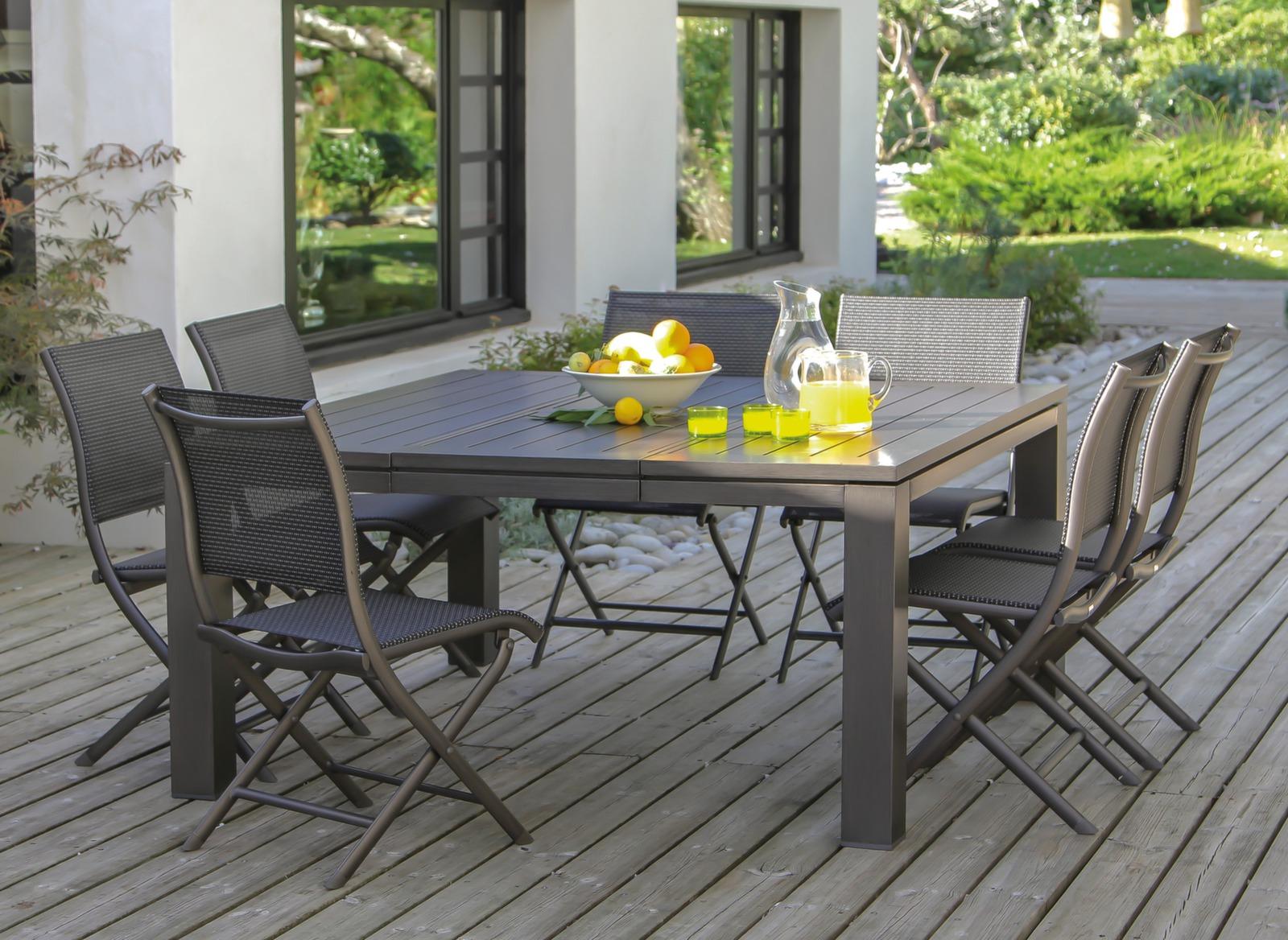Table extensible latino 100 153 cm mobilier de jardin for Mobilier de jardin table