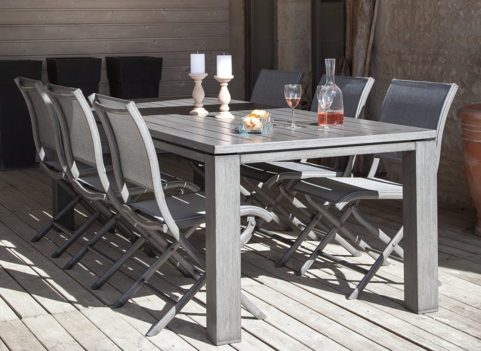 Table aluminium - Table Latino 180cm - Table de jardin Proloisirs