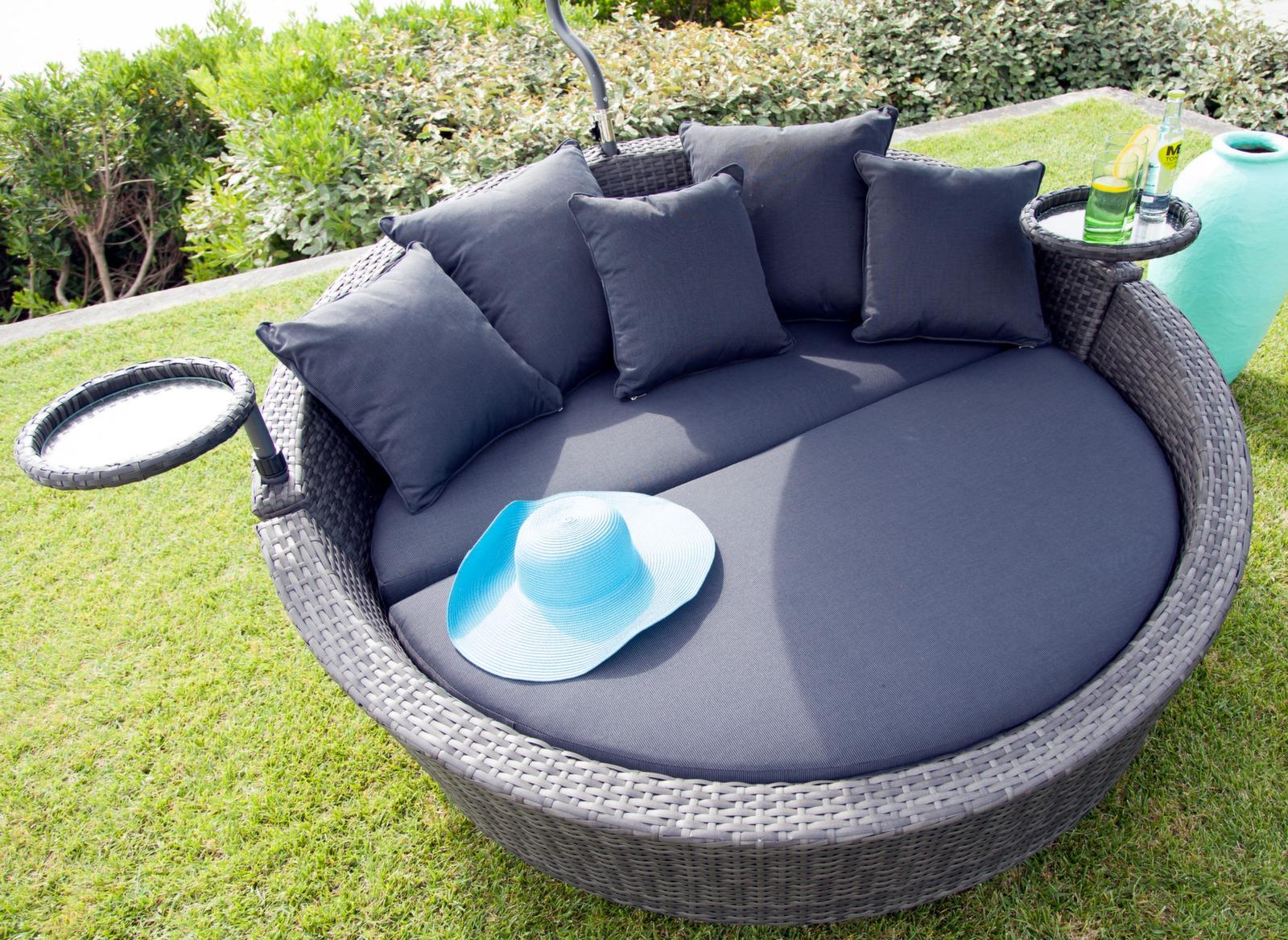 Lit melrose gris achat canap de jardin mobilier pour for Mobilier achat en ligne