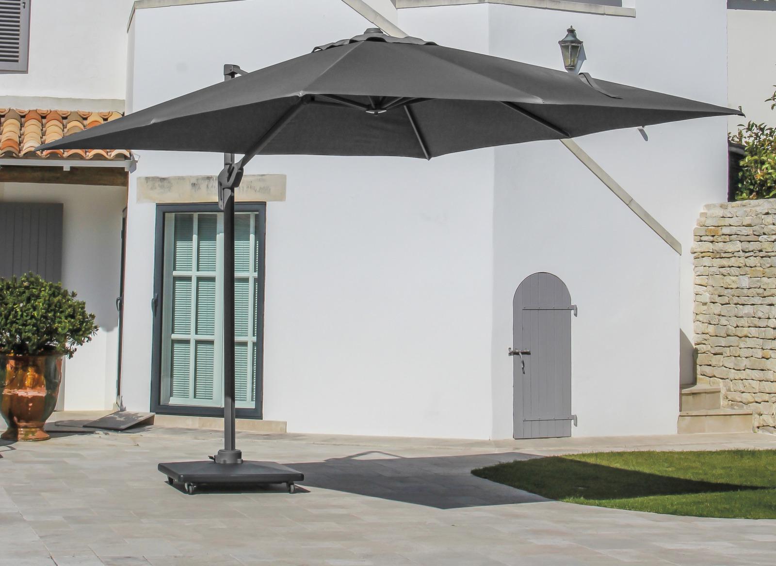 Parasol d port rectangulaire 3x4m elios gamme oc o Parasol deporte rectangulaire 3x4m