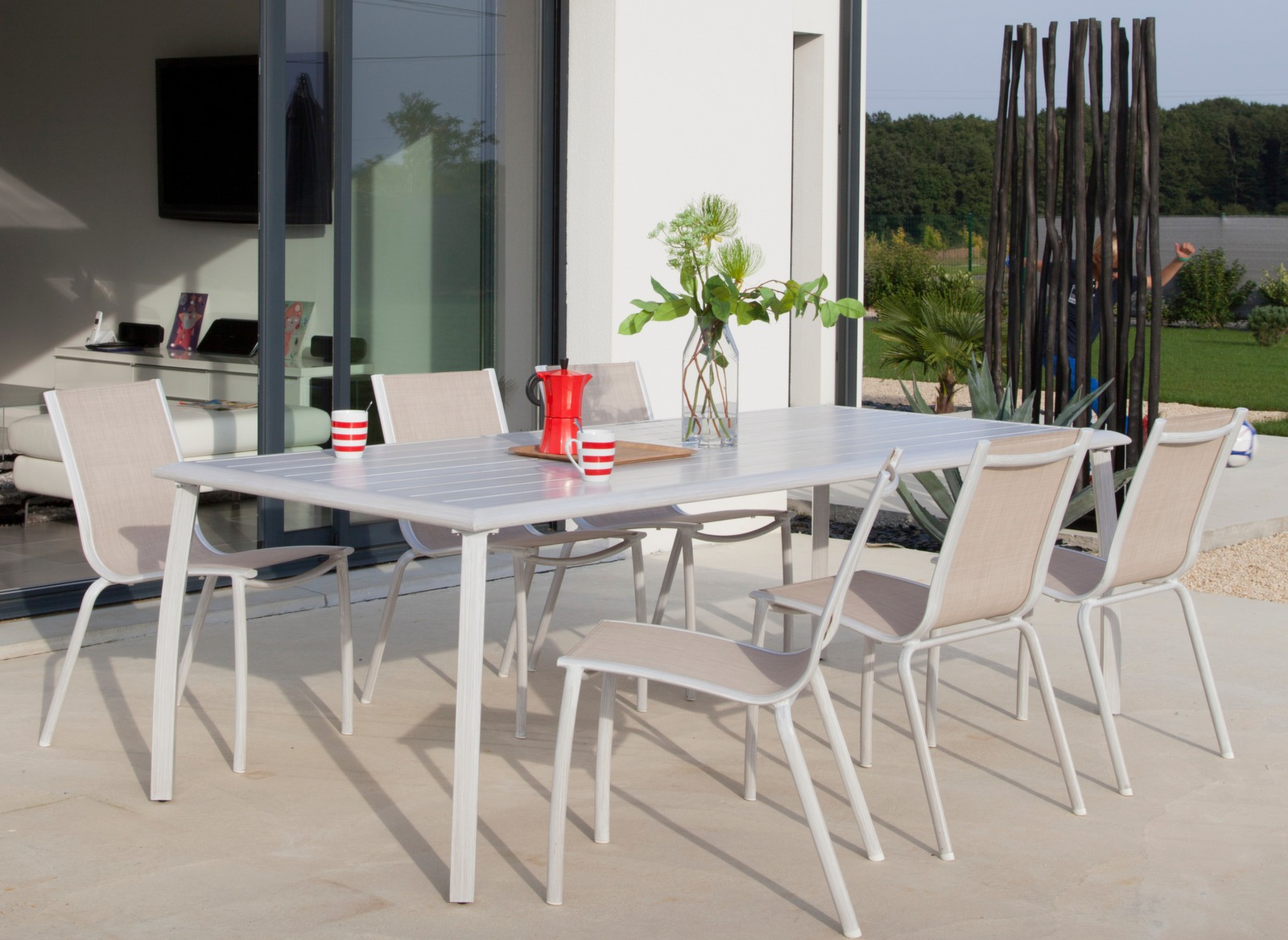 HOUSSE PROTECTION POUR TABLE 240x100 POLYESTER/PVC - GRIS