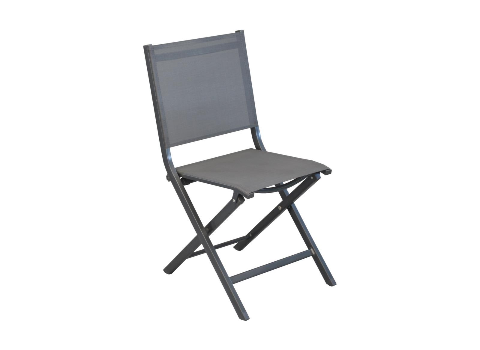 salon de jardin aluminium table et 6 chaises pliantes proloisirs. Black Bedroom Furniture Sets. Home Design Ideas