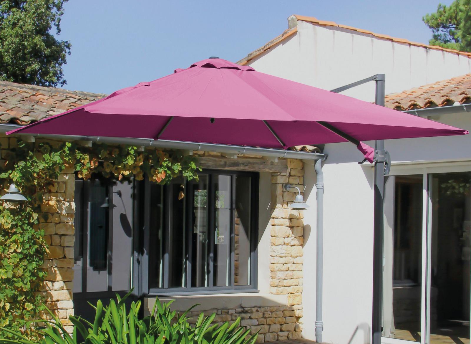 Toile de parasol d port carr 3x3m accessoires parasol for Toile pour parasol deporte
