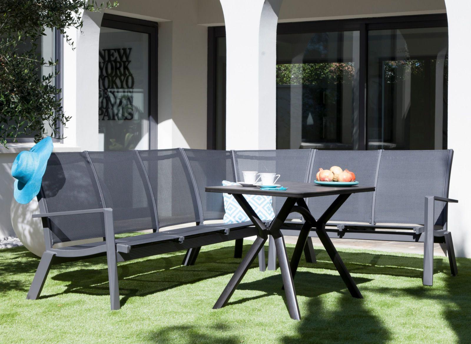 salon de jardin avec fauteuil d 39 angle meubles de jardin proloisirs. Black Bedroom Furniture Sets. Home Design Ideas
