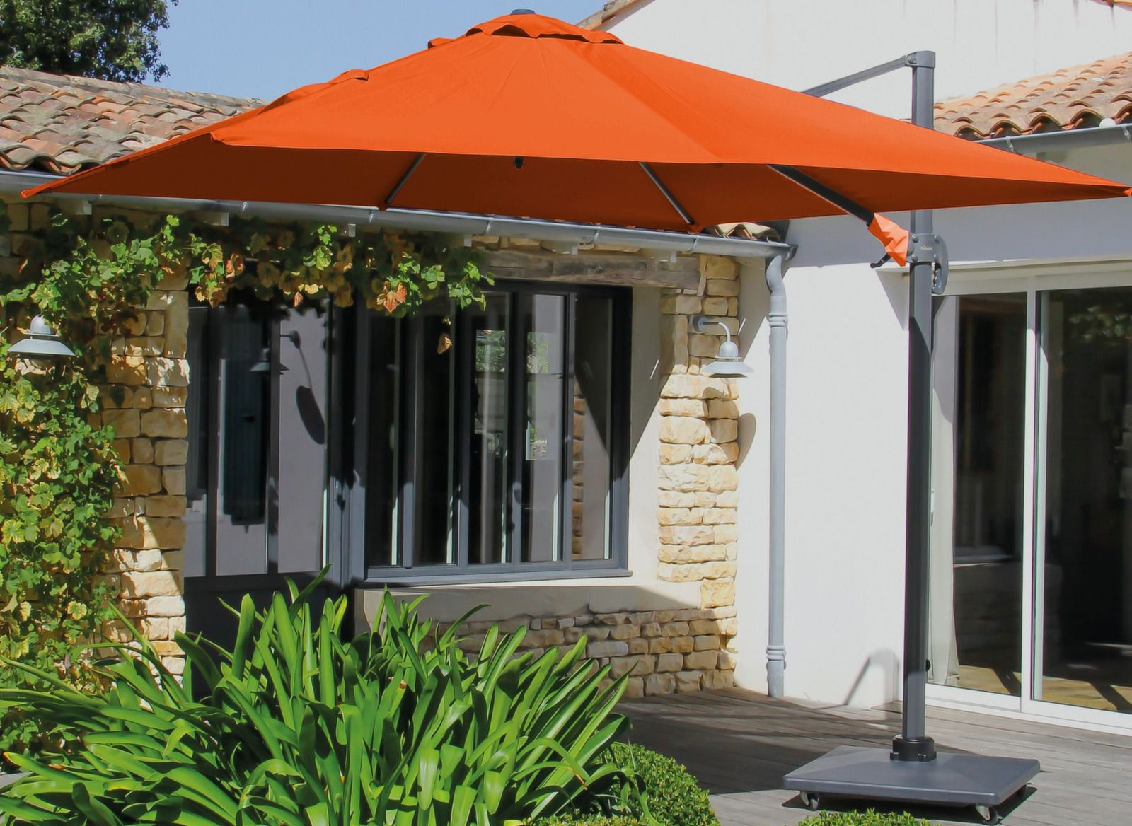 Parasol déporté carré aluminium 3x3m   Mobilier de jardin   Proloisirs