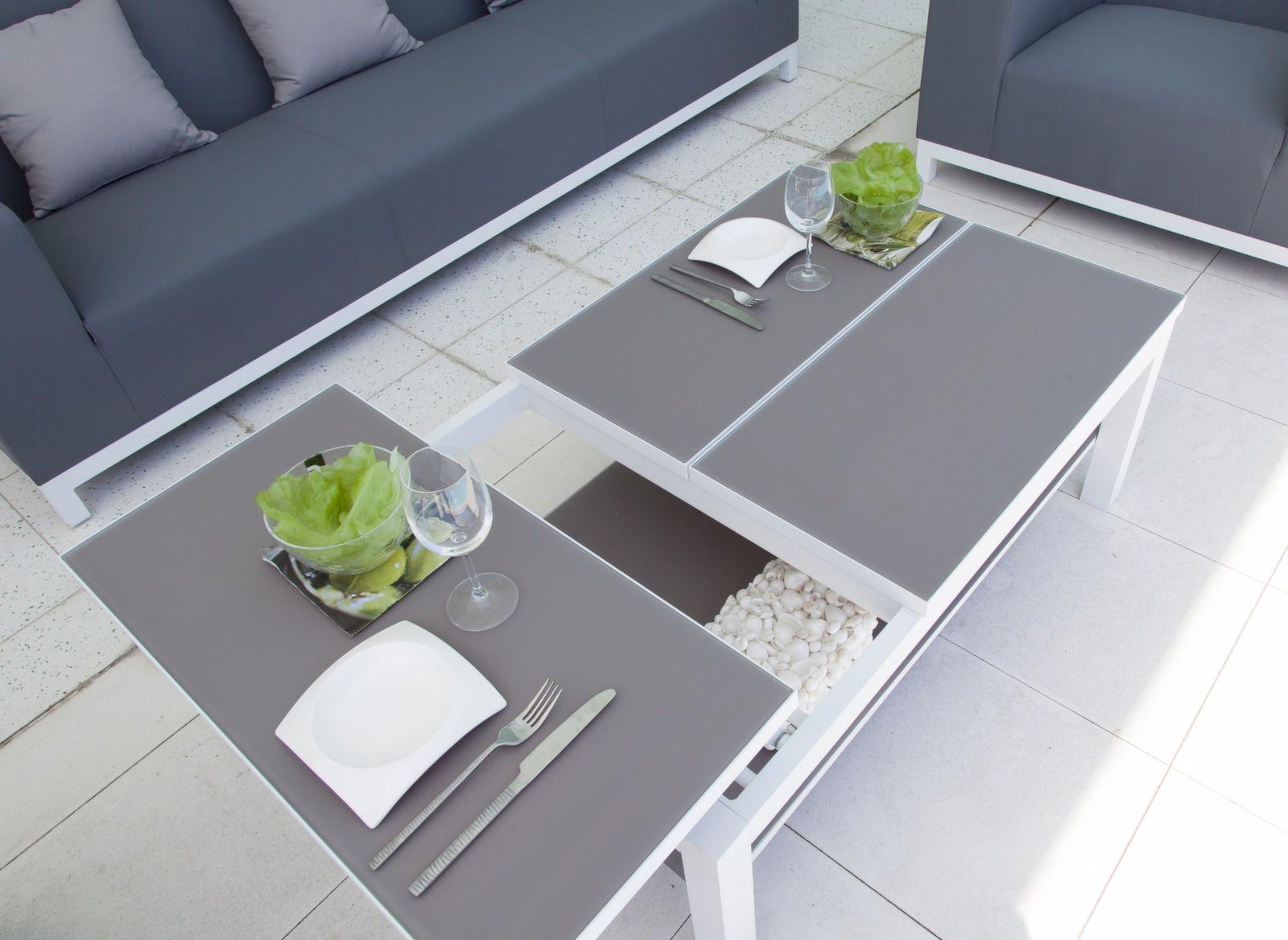 Table basse Belle Ile 108 cm, plateau Trespa®