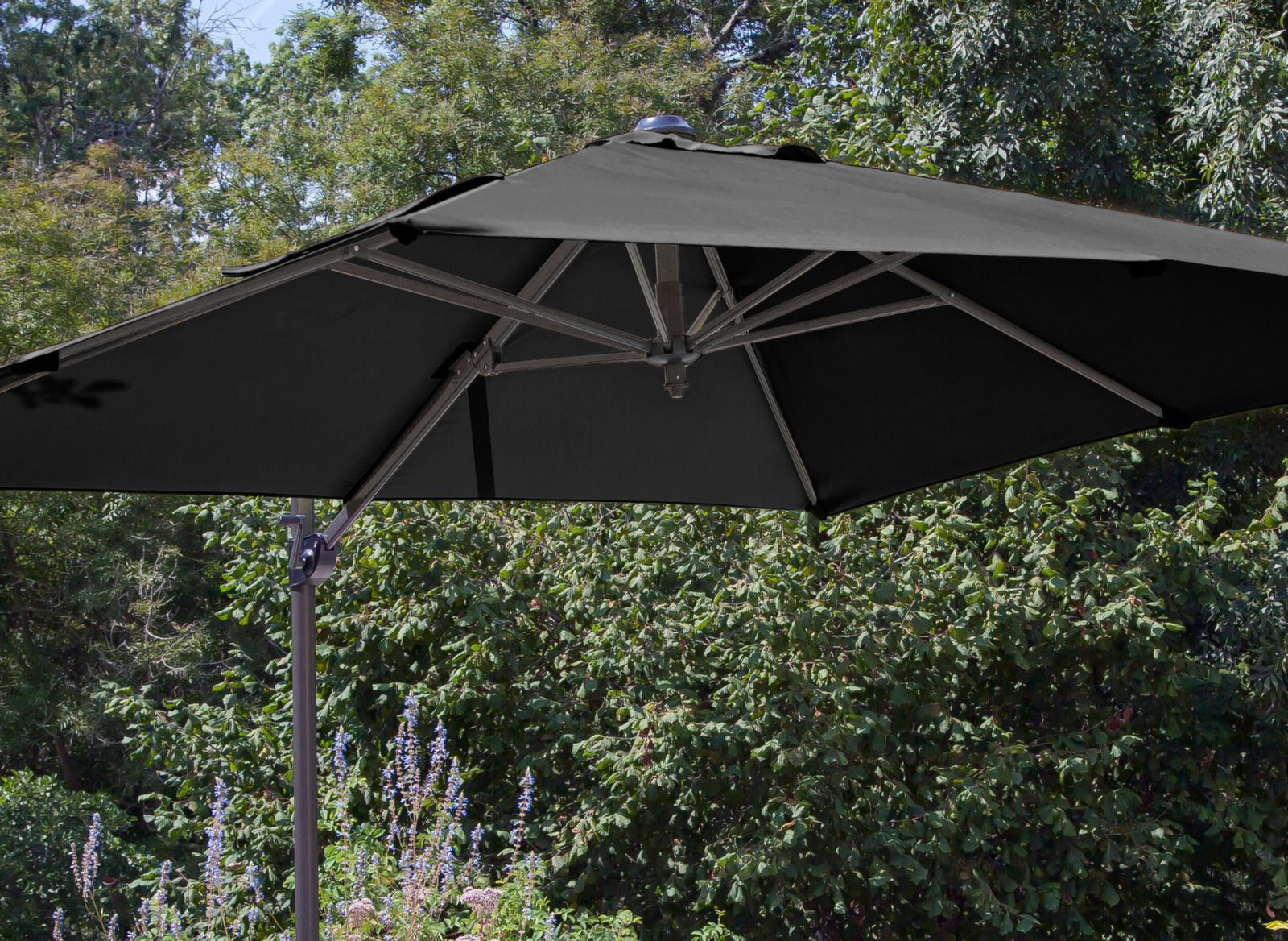 toile noire pour parasol d port roma 2 5 x 2 5 m proloisirs. Black Bedroom Furniture Sets. Home Design Ideas