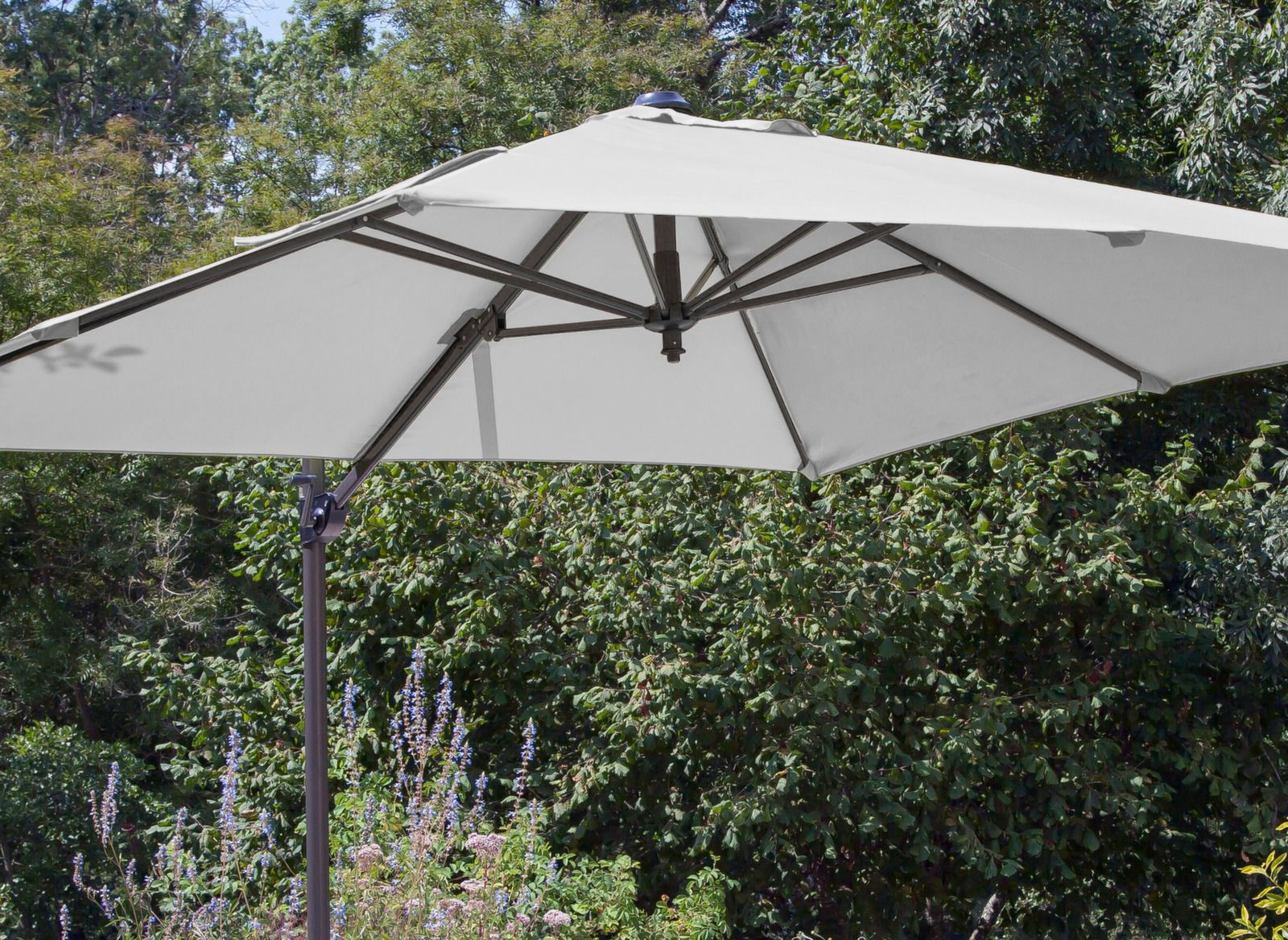 Toile rouge pour parasol d port roma 2 5 x 2 5 m proloisirs for Toile pour parasol deporte