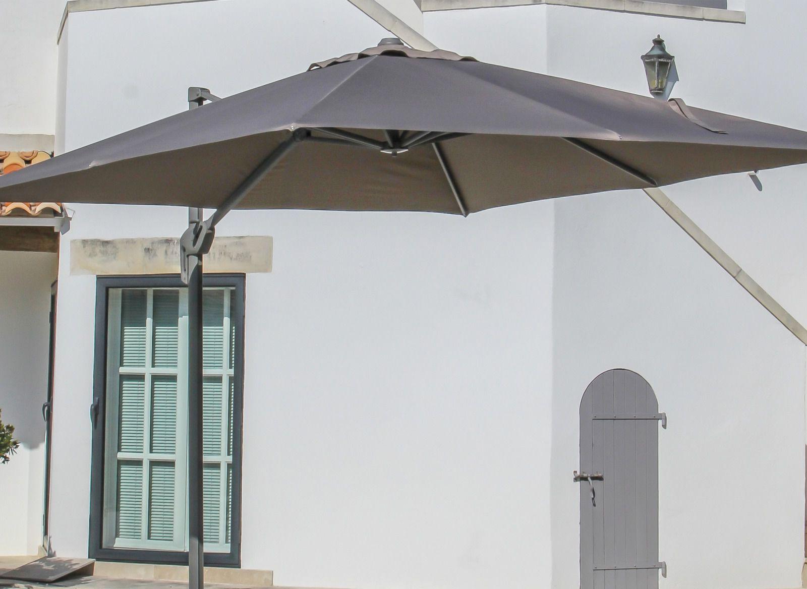 toile de parasol d port carr 3x3m accessoires parasol. Black Bedroom Furniture Sets. Home Design Ideas