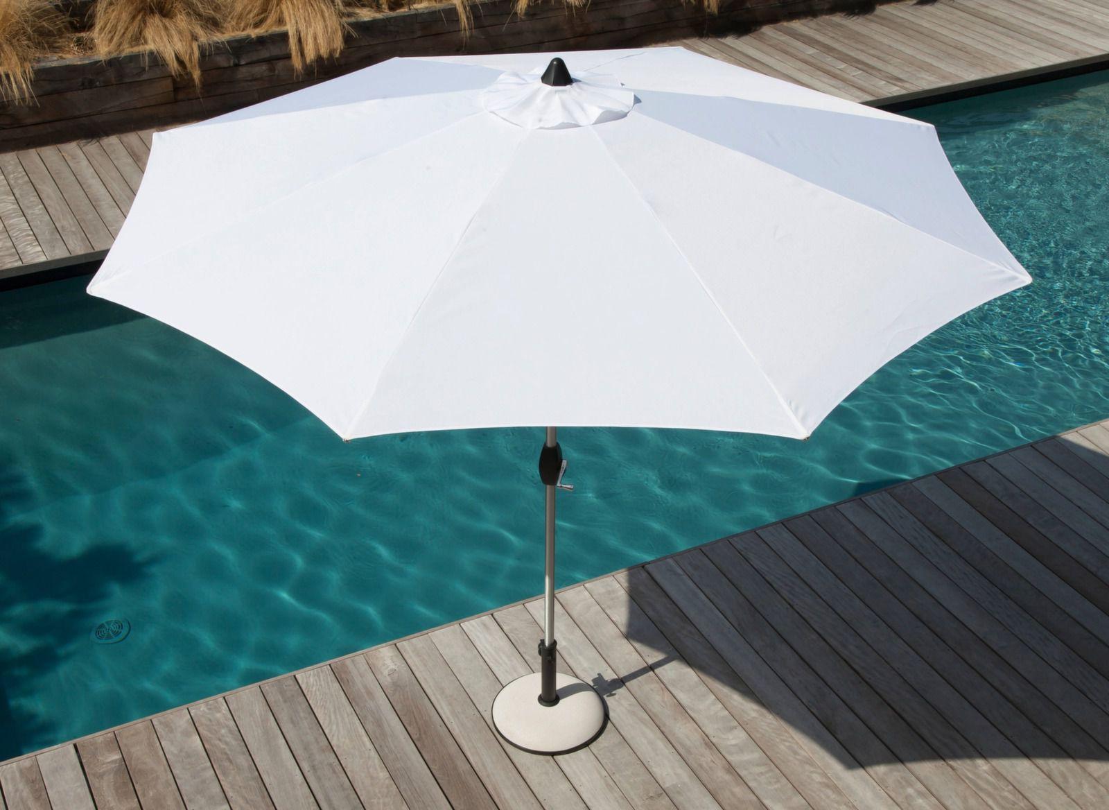 Parasol en aluminium rond 3m - Mobilier de jardin Océo - Proloisirs
