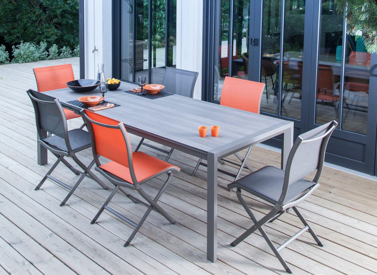 table jardin milo 178 238cm plateau trespa gamme oc o. Black Bedroom Furniture Sets. Home Design Ideas