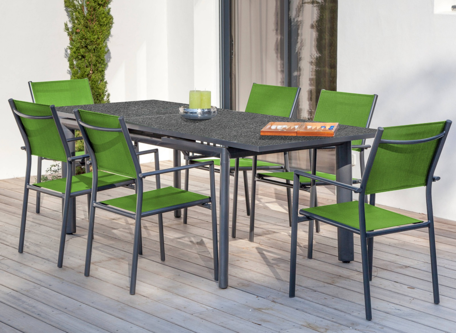 table extensible floride 168 223 cm soldes meubles de jardin pour le repas mobilier oc o et. Black Bedroom Furniture Sets. Home Design Ideas