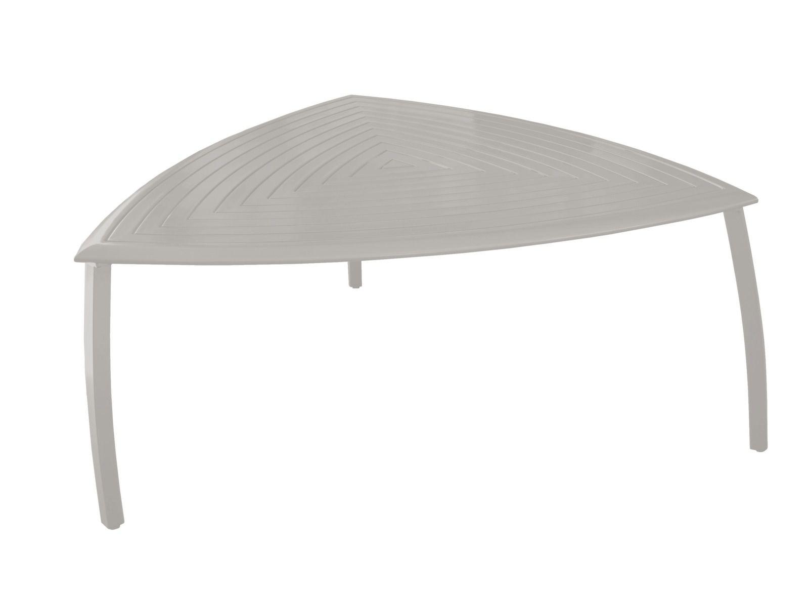 Table Azur Triangle, coloris light grey