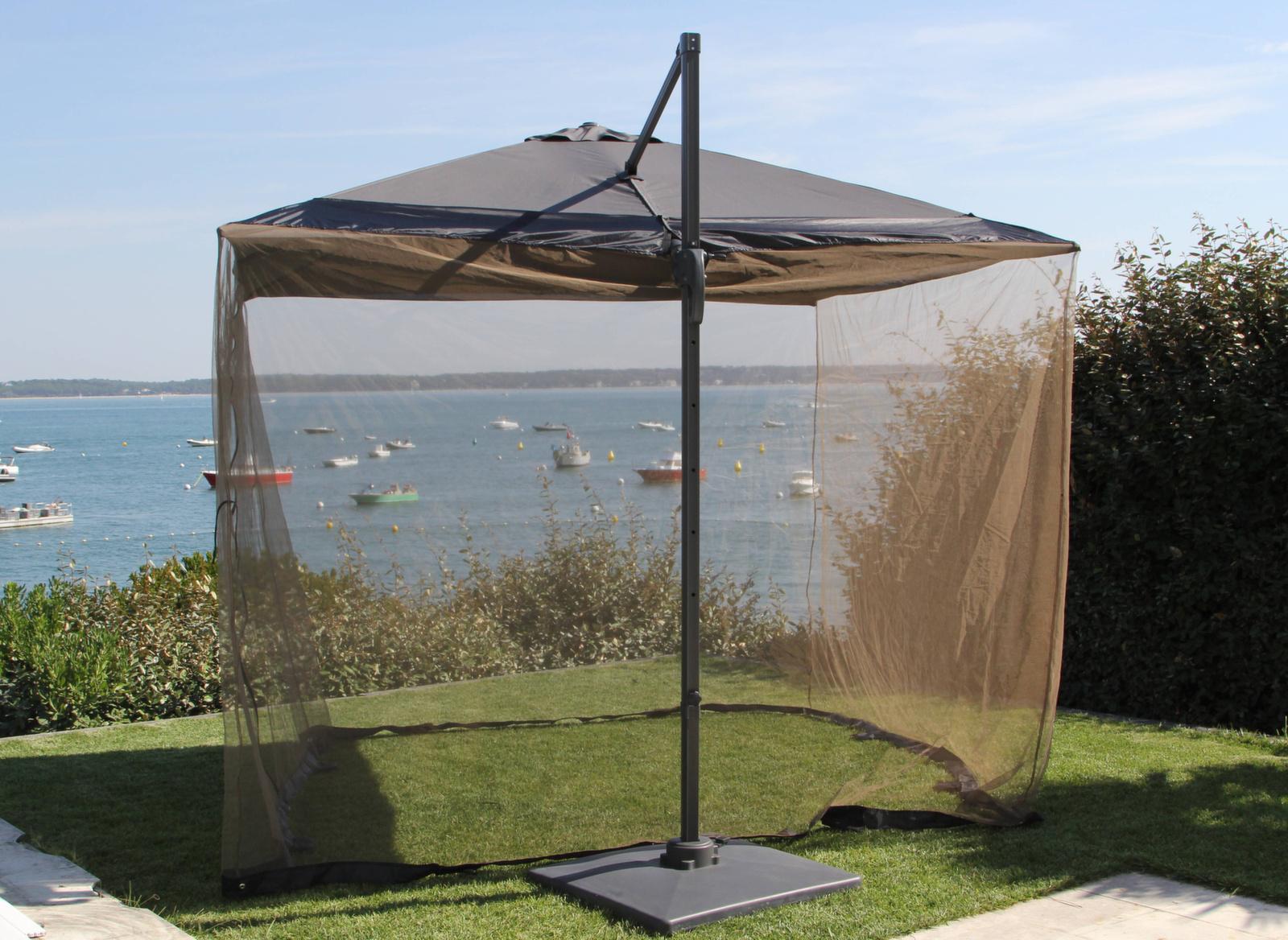 moustiquaire pour parasol d port 3 x 3 m accessoires et protections pour parasol proloisirs. Black Bedroom Furniture Sets. Home Design Ideas