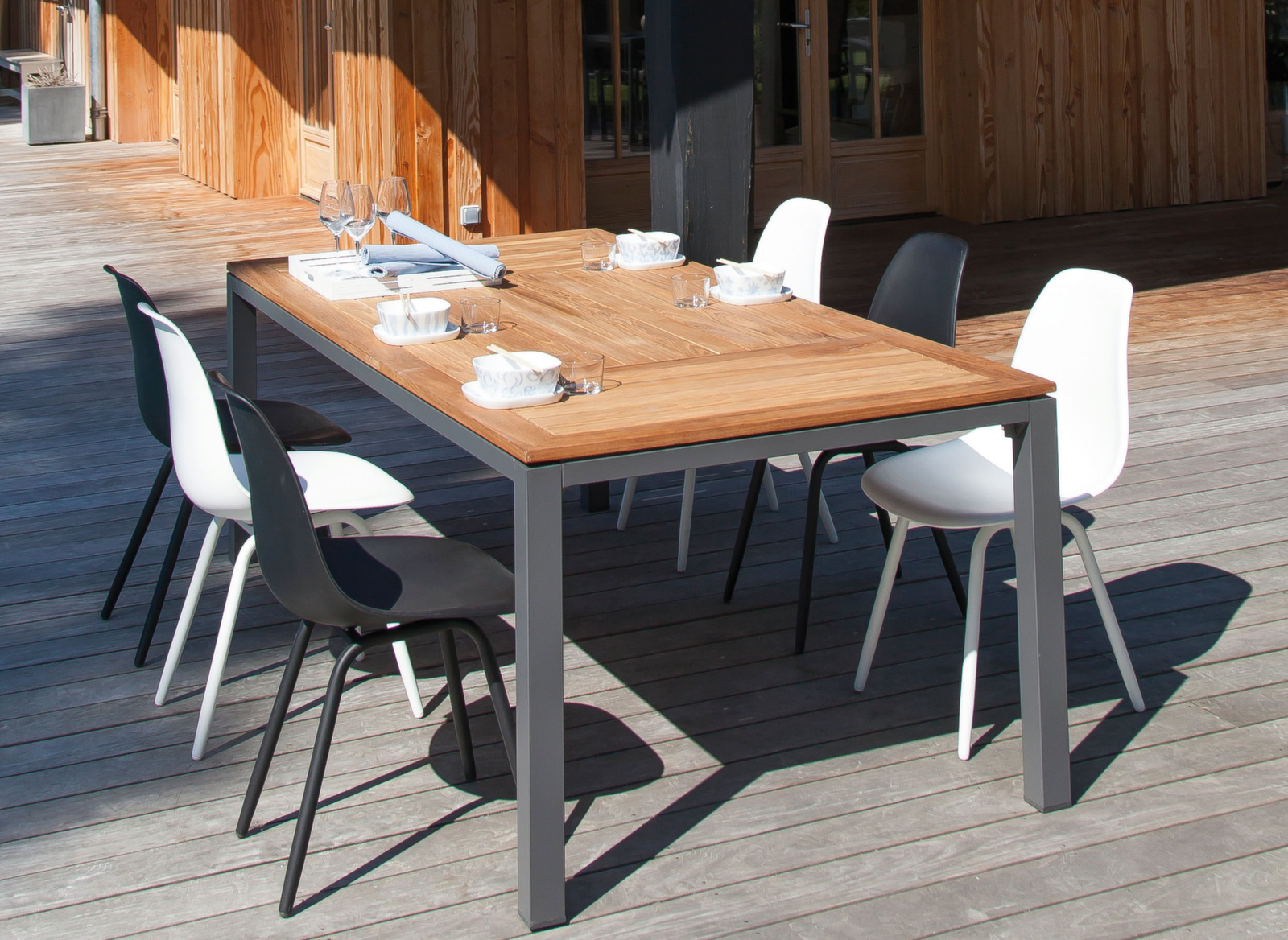 chaises de jardin vintage moss lot de 4 mobilier. Black Bedroom Furniture Sets. Home Design Ideas