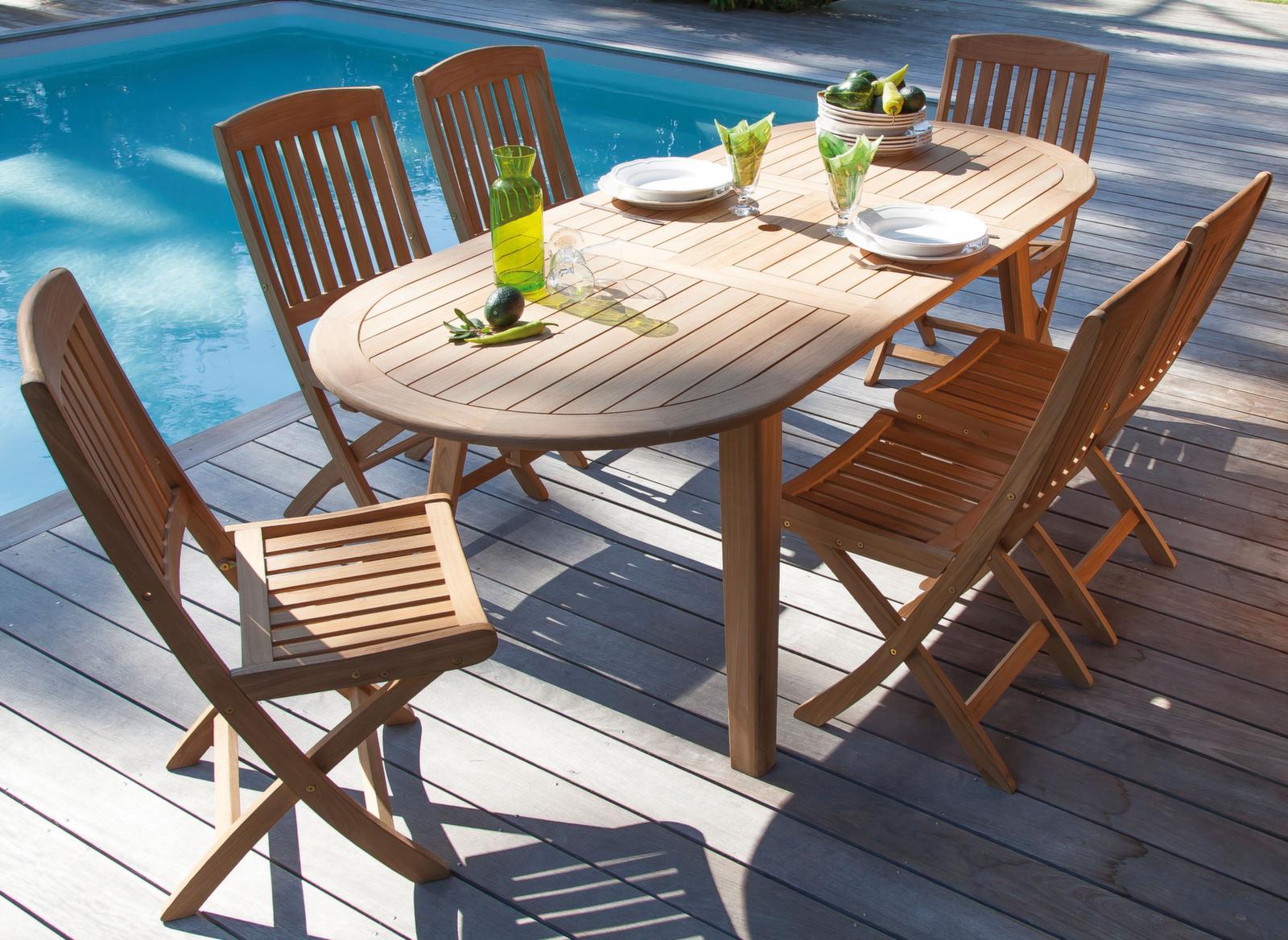 Chaise de jardin en bois Macon – Meubles d\'extérieur – Proloisirs