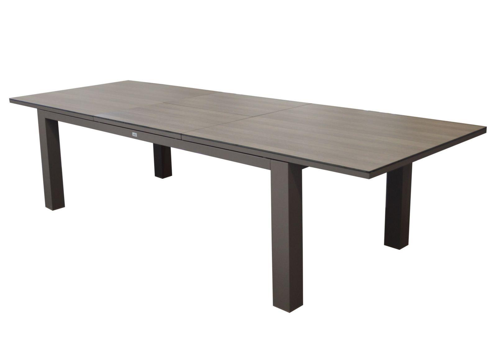 Table de jardin flo 180 240 cm plateau hpl gamme oc o for Plateau table 180